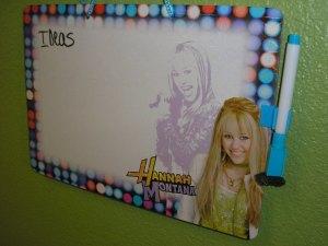 Hannah Montana Dry Erase Board $1.00